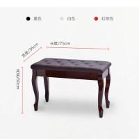 钢琴凳进口牛皮弯腿单双人带书箱电子调节凳实木古筝凳儿童钢琴椅
